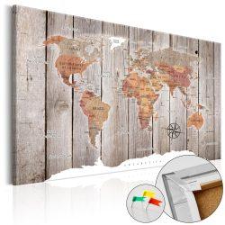 Kép parafán - Wooden Stories [Cork Map]  Parafa világtérkép - vászonkép 120x80