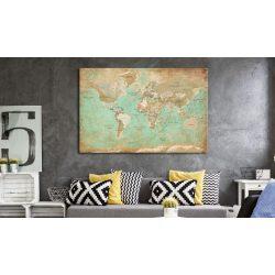 Kép parafán - Celadon Journey [Cork Map]  Parafa világtérkép - vászonkép 90x60