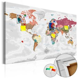 Kép parafán - Travel Around the World [Cork Map]  Parafa világtérkép - vászonkép 120x80