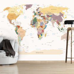 Fotótapéta térkép - World Map Világtérkép 100x70