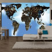 Fotótapéta térkép - World Map - Blue Inspiration Világtérkép 100x70