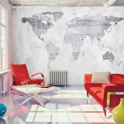 Fotótapéta térkép - Concrete Map Világtérkép 100x70