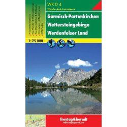 WKD 4 Garmisch-Partenkirchen-Wettersteingebirge-Werdenfelser Land turista térkép Freytag 1:50 000
