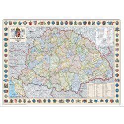 Szent korona országai falitérkép 1914 keretezve 126x86