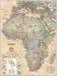 Afrika falitérkép antikolt  National Geographic 61 x 78 cm