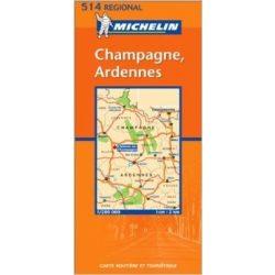 514. Champagne & Ardennes térkép Michelin 1:200 000