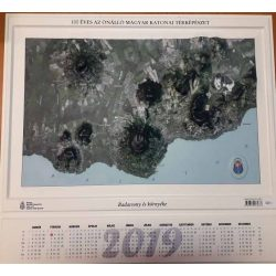 Badacsony és környéke dombortérkép - műhold felvétel 2018 Magyar Honvédség 55x51 cm Badacsony dombortérkép