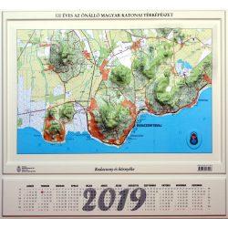 Badacsony és környéke dombortérkép Magyar Honvédség 55x51 cm Badacsony dombortérkép