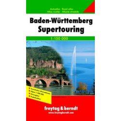 Baden Württemberg supertouring atlasz Freytag 1:150 000