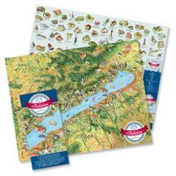 Balaton és környéke térkép, Balaton látványtérkép Civertan Grafikai Stúdió