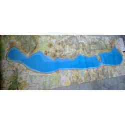 Balaton falitérkép fóliás Cartographia 1:40 000 220x71 cm