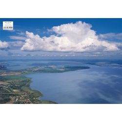 Balaton panoráma tányéralátét könyöklő + hátoldalon Balaton térkép