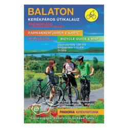 Balaton kerékpáros útikalauz Frigória kiadó  1:80 000  2017