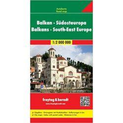 Balkán térkép, Délkelet Európa térkép Freytag & Berndt 1:2 000 000