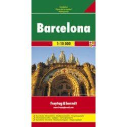 Barcelona térkép Freytag & Berndt 1:10 000  2018