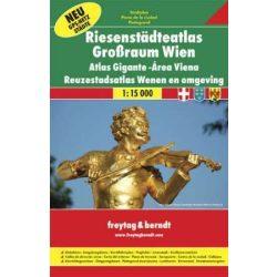 Bécs atlasz, Bécs és környéke atlasz Freytag & Berndt 1:15 000