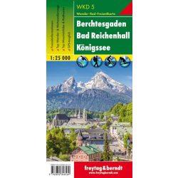 WKD 5 Berchtesgaden, Bad Reichenhall, Königssee turistatérkép Freytag 1:25 000