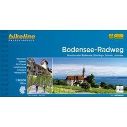 Bodensee Radweg, Bodeni-tó kerékpáros térkép Esterbauer 1:50 000  Bodensee kerékpárkalauz 2017