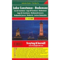 Lake Costance, Bodeni-tó térkép Freytag 1:115 000