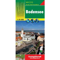 WKD 10 Bodensee turista térkép Freytag 2013 1:50 000