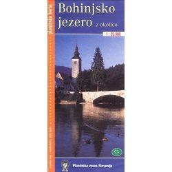 Bohinji tó turista térkép Planinska zveza Kod and Kam 1:25 000