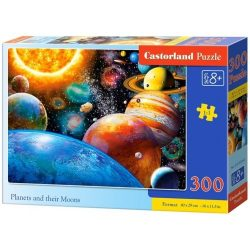 Castorland Bolygók és holdjaik puzzle - 300 db-os bolygók puzzle kirakó 40 x 29 cm