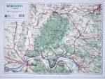Börzsöny dombortérkép Magyar Honvédség 1:100 000 63x47 cm