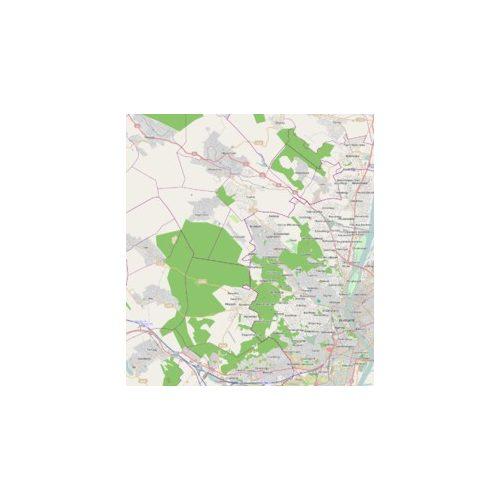 Budapest 11. kerület falitérképek 93 x 66 cm