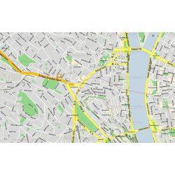 Budapest 2-12. kerület falitérképek 93 x 66 cm