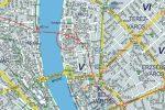 Budapest I.V.VI.VII. kerület, Budapest belváros falitérképek 93 x 66 cm