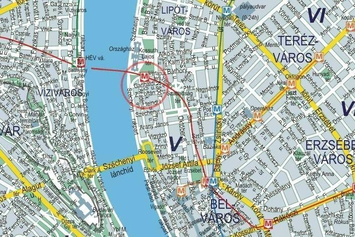 térkép budapest v kerület Budapest I.V.VI.VII. kerület, Budapest belváros falitérképek 93 x  térkép budapest v kerület