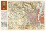 Budai hegyek antik falitérkép 1934 HM
