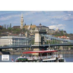 Mátyás templom tányéralátét könyöklő + hátoldalon Budapest belváros térképe