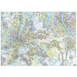 Budapest falitérkép faléces  Dimap-Térkép-Center 120x86 cm