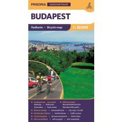 Budapest kerékpáros térkép Frigória 1:30 000    2017