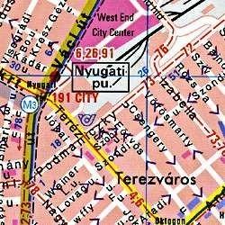 Budapest falitérkép fóliázott, Freytag 1:27 500 137x98 cm