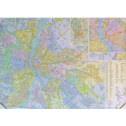 Budapest falitérkép fóliás Dimap-Térkép-Center 120x86 cm