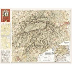 Bükk hegység falitérkép antik faximile 1933 HM