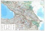 Kaukázus falitérkép autós fóliás Gizi Map 1:1 000 000