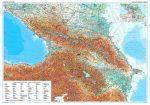 Kaukázus falitérkép  domborzati Gizi Map fóliás 1:1 000 000
