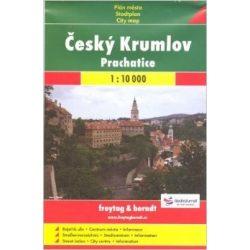 Cseszki Krumlov térkép Freytag 1:10 000