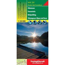 WKD 9 Chiemsee, Traunstein, Ruhpolding, Chiemgauer Alpen und Seen turistatérkép Freytag 1:50 000