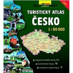 Csehország  atlasz, Csehország turista és kerékpáros atlasz 1:50 000 Shocart 2016 Csehország turistatérképek