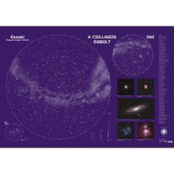 Csillagtérkép, Csillagászati falitérkép fóliázva 123 x 80 cm