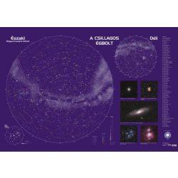 Csillagtérkép, Csillagászati falitérkép faléces, fóliás 123 x 80 cm
