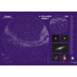 Csillagtérkép, Csillagászati falitérkép  123 x 80 cm
