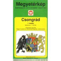 Csongrád megye térkép Térképház 1995. régi 1:150 000