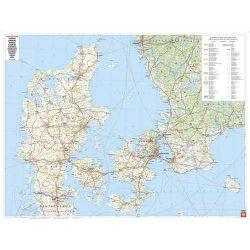 Dánia falitérkép Freytag 1:400 000 96x 90 cm
