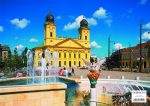 Debrecen tányéralátét könyöklő + hátoldalon Debrecen várostérképe