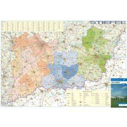 Dél-Alföld régiótérkép járásokkal Stiefel 1:250 000